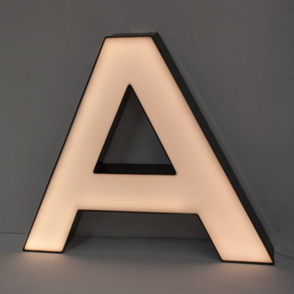 Large Reclaimed White Letter Light A