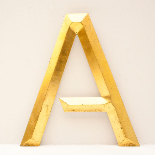 Large Reclaimed Gilt Letter A