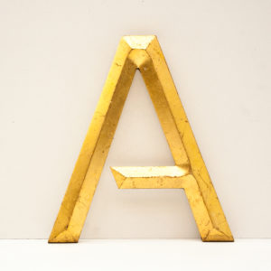 Reclaimed Gilt Letter A