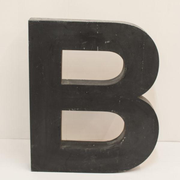 Large Reclaimed Black Metal Letter B