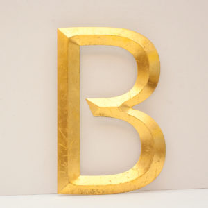 Large Reclaimed Gilt Letter B