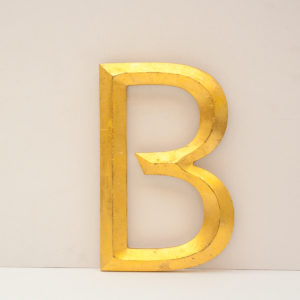 Reclaimed Gilt Letter B