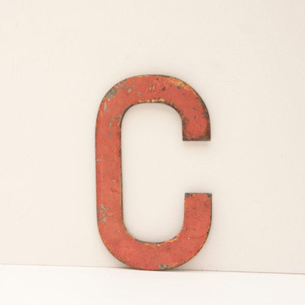 Reclaimed Pink Metal Letter C