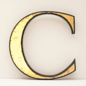 Reclaimed Gilt Letter C