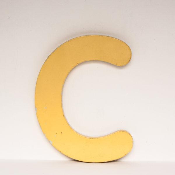 Reclaimed Yellow Resin Letter C