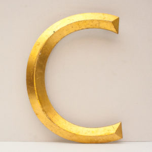 Large Reclaimed Gilt Letter C