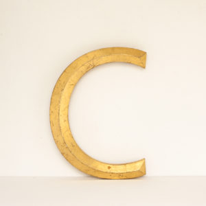 Reclaimed Gilt Resin Letter C