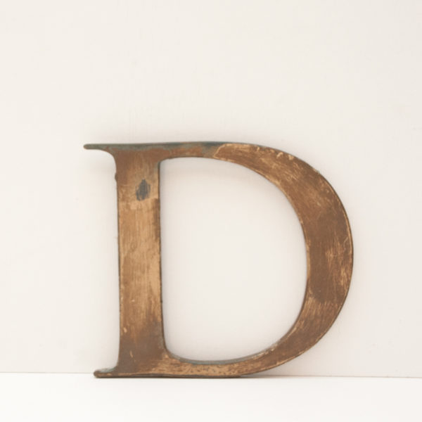 Reclaimed Distressed Gilt Letter D