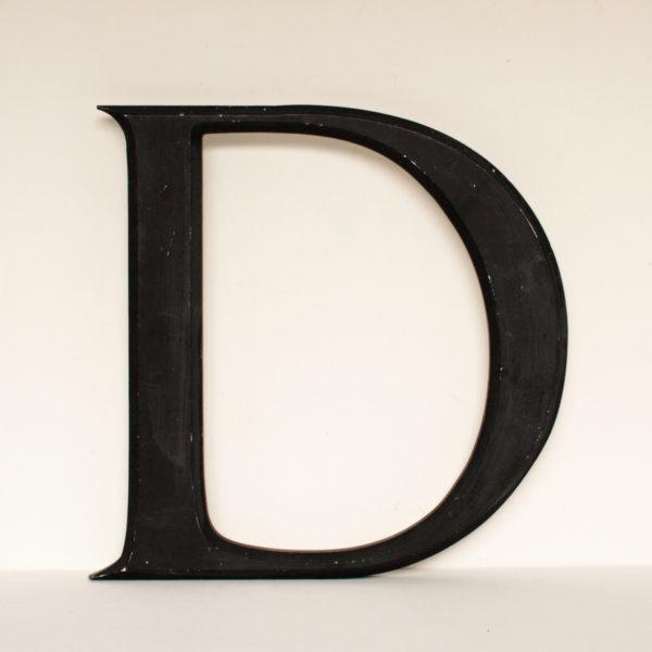 Reclaimed Black Resin Letter D