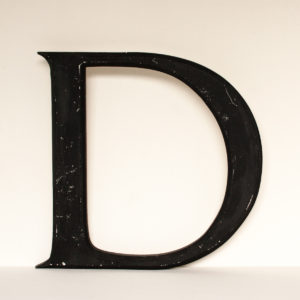 Reclaimed Black Resin Letter D