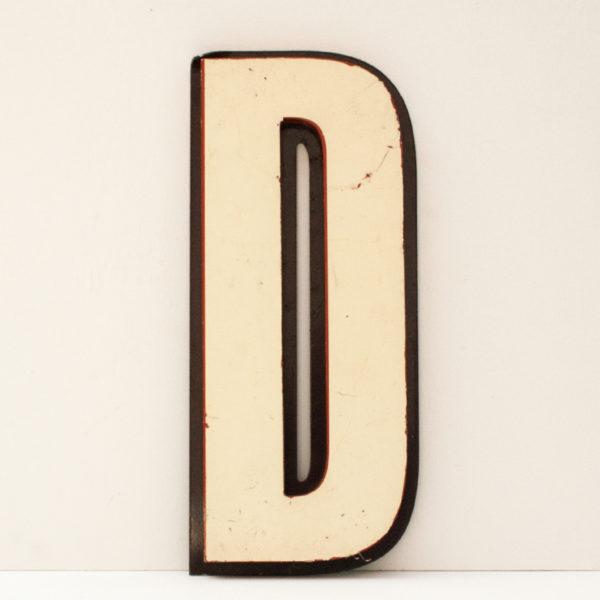 Reclaimed White Letter D