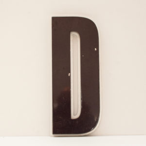 Reclaimed Purple Resin Letter D