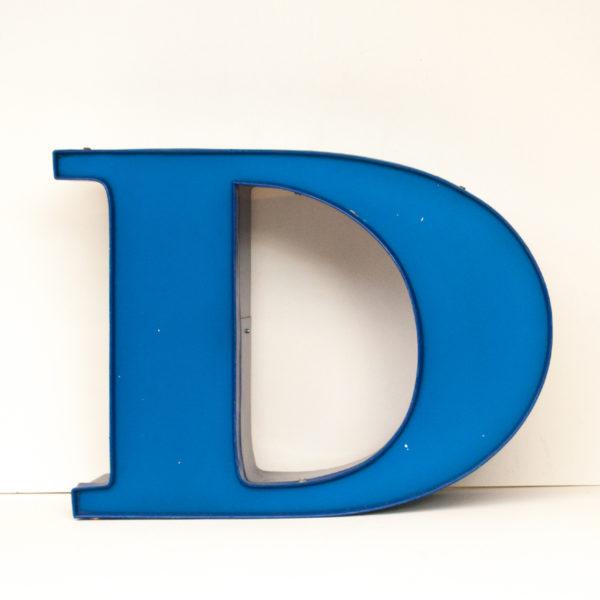 Reclaimed Blue Letter Light D