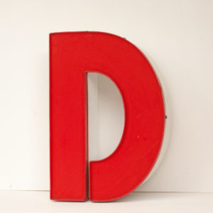 Reclaimed Red Letter Light D