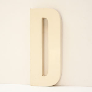 Reclaimed White Resin Letter D