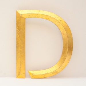 Reclaimed Gilt Letter D