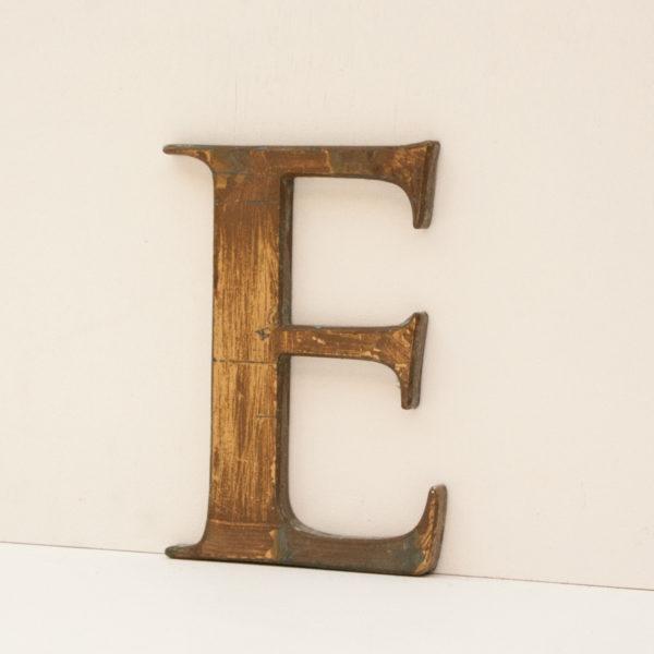 Reclaimed Gold Resin Letter E