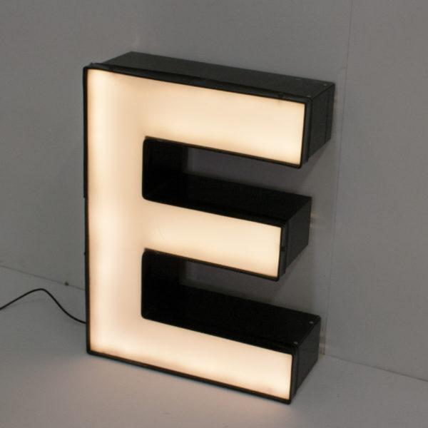 Reclaimed Black Letter Light E