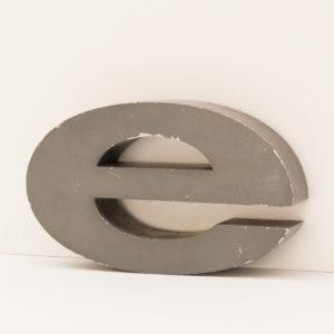 Reclaimed Grey Metal Letter E