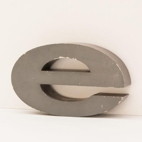 Reclaimed Grey Metal Letter E