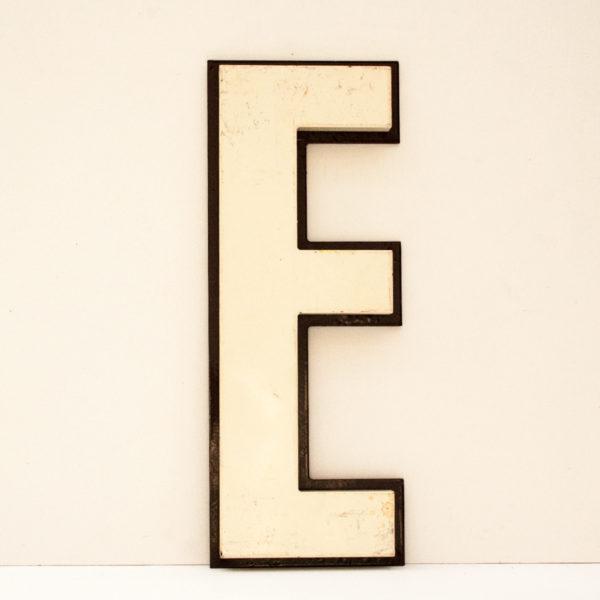 Reclaimed White Resin Letter E