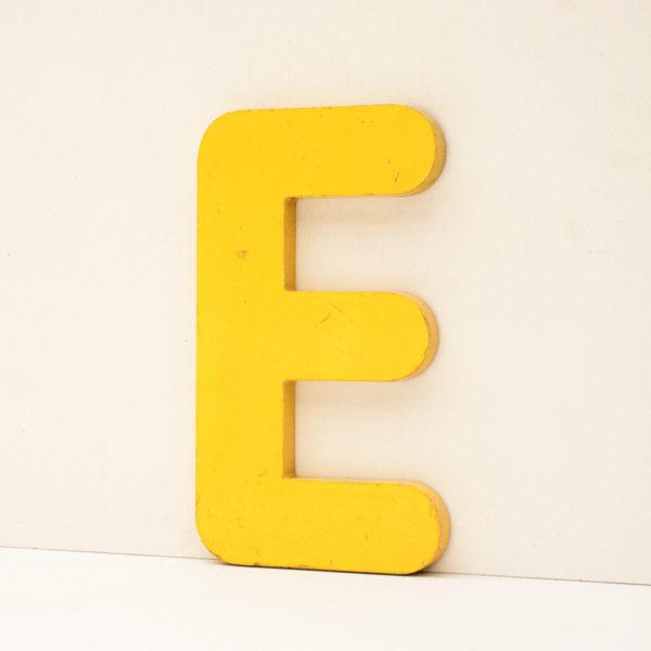 Reclaimed Yellow Resin Letter E