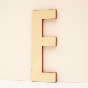 Reclaimed White Resin Letter E