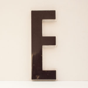 Reclaimed Purple Resin Letter E