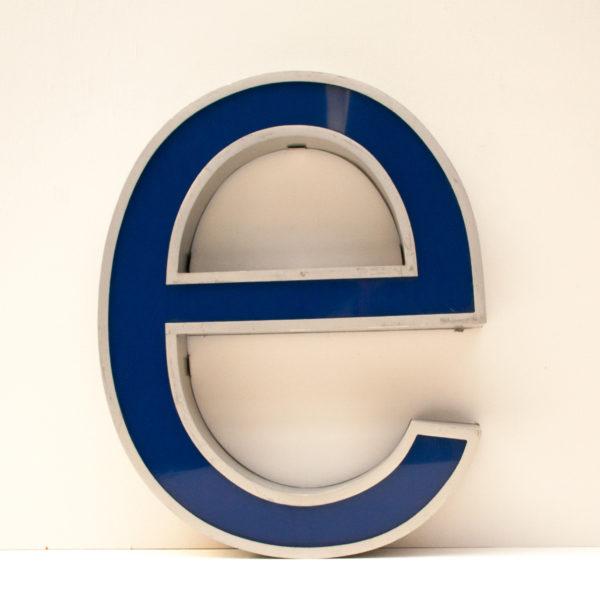 Reclaimed Mercedes Benz Letter E