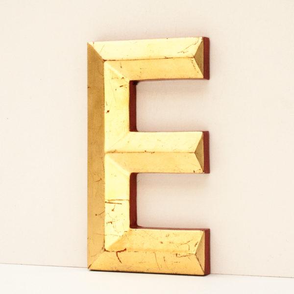 Gold Resin Reclaimed Pub Letter E