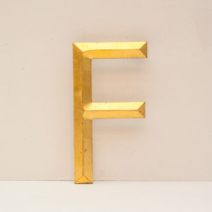 Reclaimed Gilt Letter F