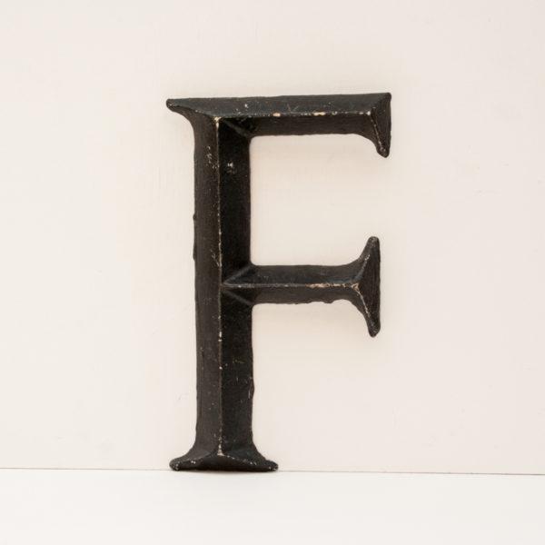 Reclaimed Black Resin Letter F