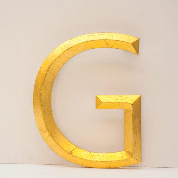 Reclaimed Gilt Letter G