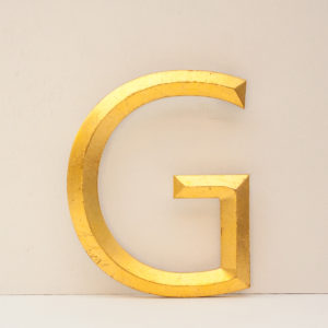 Reclaimed Gilt Letter G