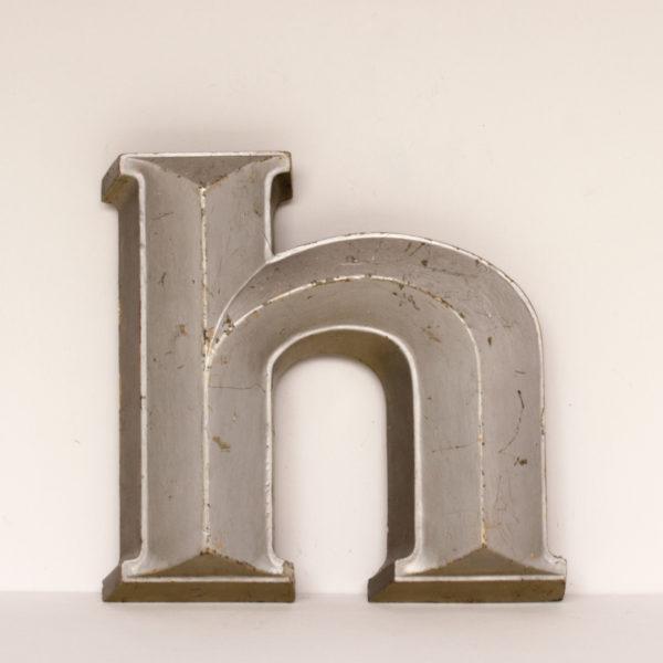 Heavy Reclaimed Silver Resin Letter H