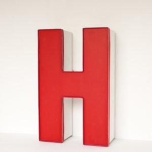 Reclaimed Red Letter Light H