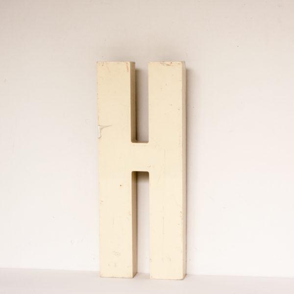 Reclaimed White Resin Letter H