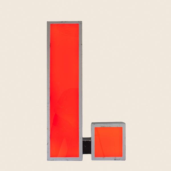 Large Reclaimed Red Letter Light I