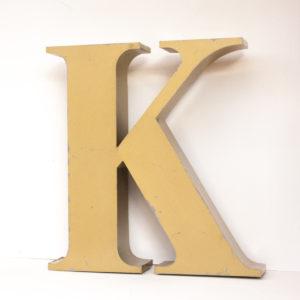 Reclaimed Gold Letter Light K