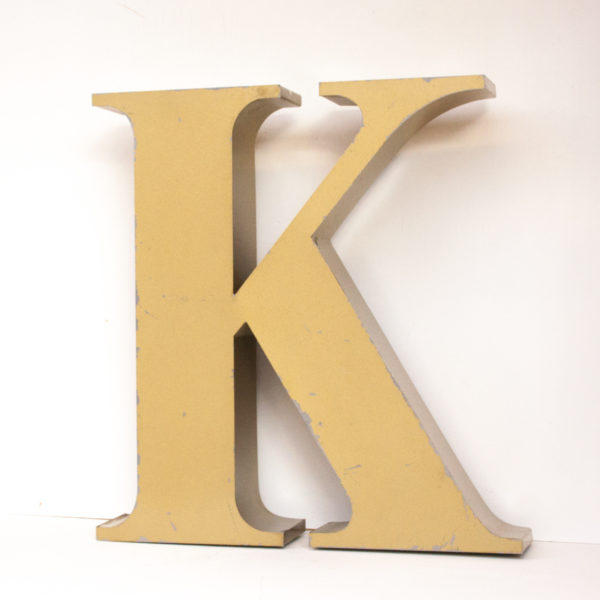 Reclaimed Gold Letter Light K