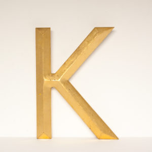Reclaimed Gilt Resin Letter K
