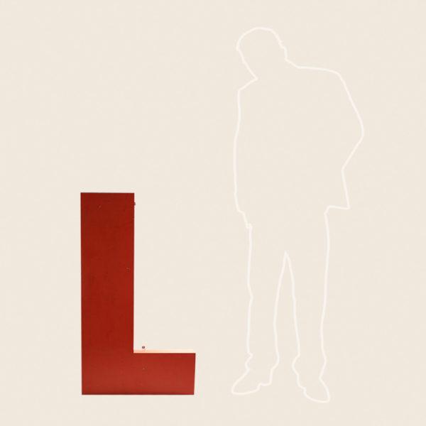 Giant Reclaimed Metal Letter L