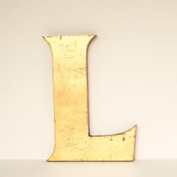 Reclaimed Gilt Resin Letter L