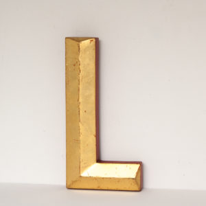 Reclaimed Gilt Resin Pub Letter L
