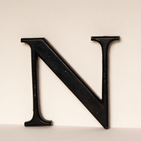 Reclaimed Black Resin Letter N