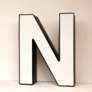 Reclaimed White Letter Light N