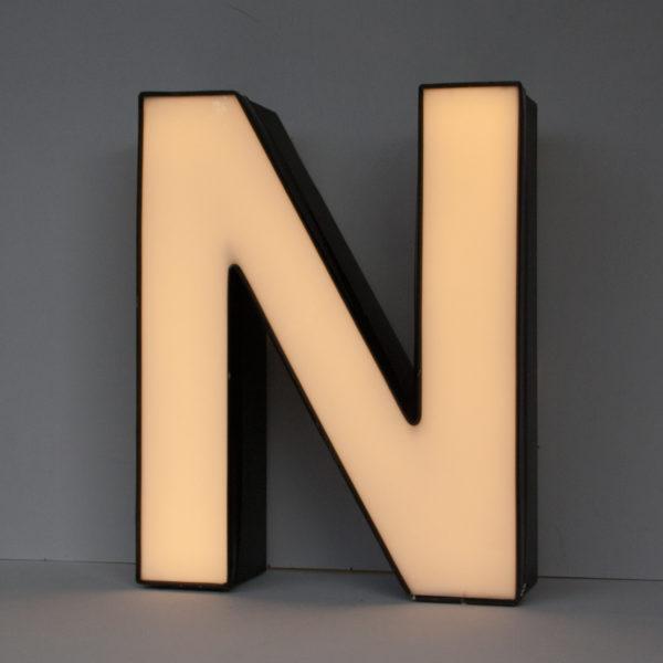 Reclaimed White Letter Light N