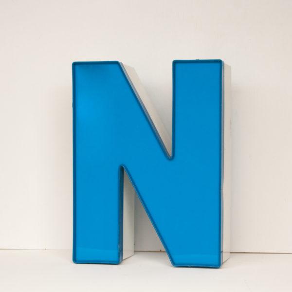 Reclaimed Blue Letter Light N