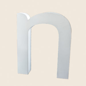Reclaimed Halo Letter Light N