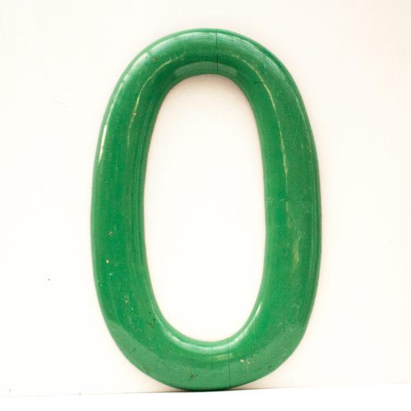 Large Reclaimed Green Wooden Fairground Letter